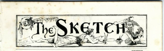 1894 THE SKETCH Magazine MARION TERRY Clara Cummings DANDO Japanese Play Bill VICTORIAN (9500)